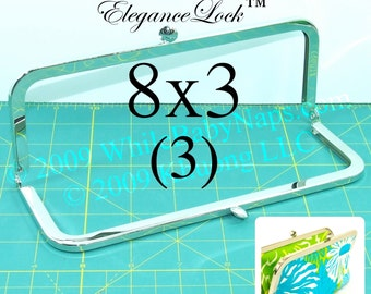 12% OFF 3  nickel-free 8x3 purse frame with EleganceLock(TM) closure