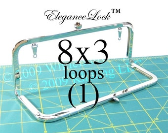 8x3 Nickel-free purse frame(TM) with EleganceLock(TM) closure and loops