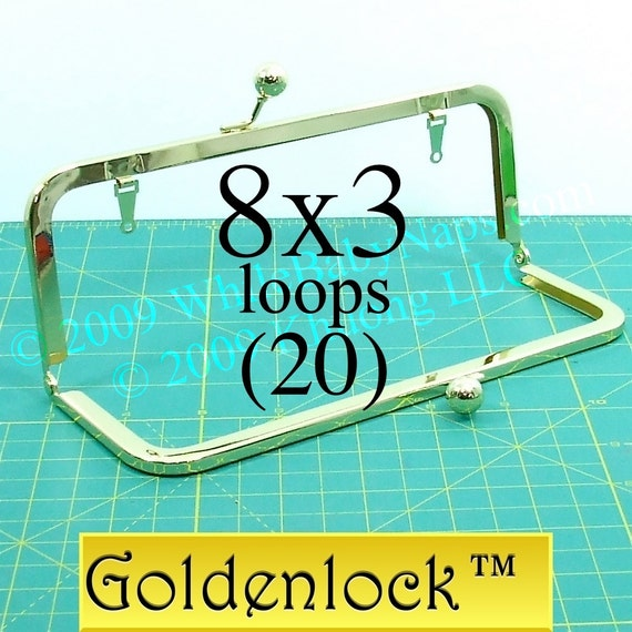 25% OFF 20 Goldenlock(TM) 8x3 purse frame with LOOPS