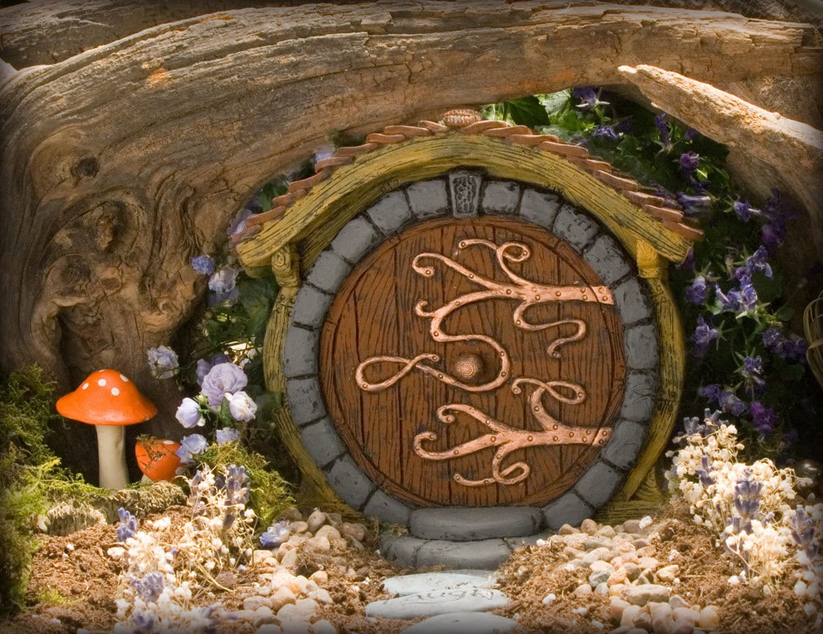Brown hobbit fairy door for The fairy door