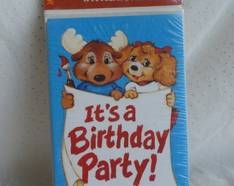 8 Get Along Gang Birthday Party Invitations Vintage 80s Cuteness Craft Supply or Cards