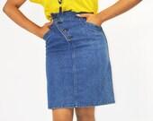 vintage womens 1980s ralph lauren jean designer skirt