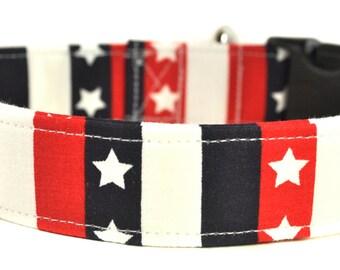 Stars and Stripes - Patriotic Dog Collar - LAST ONE!