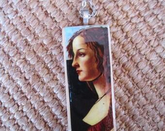 SALE A Young Woman by Botticelli pendant. SALE