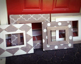 Set of four Distressed frames 2 8x10's and 2 5x7's