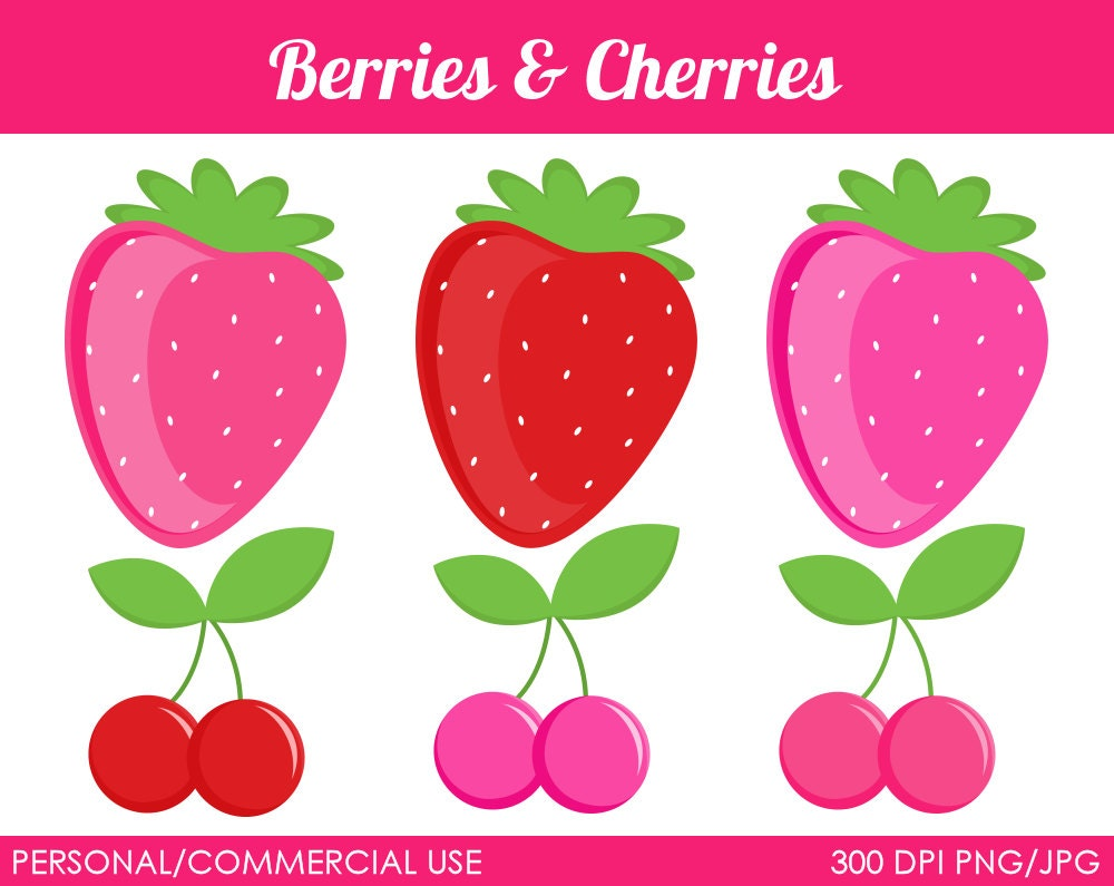 Cherry Clip Art Berries and cherries clipart