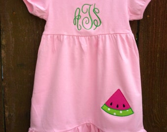 Monogrammed Watermelon Dress