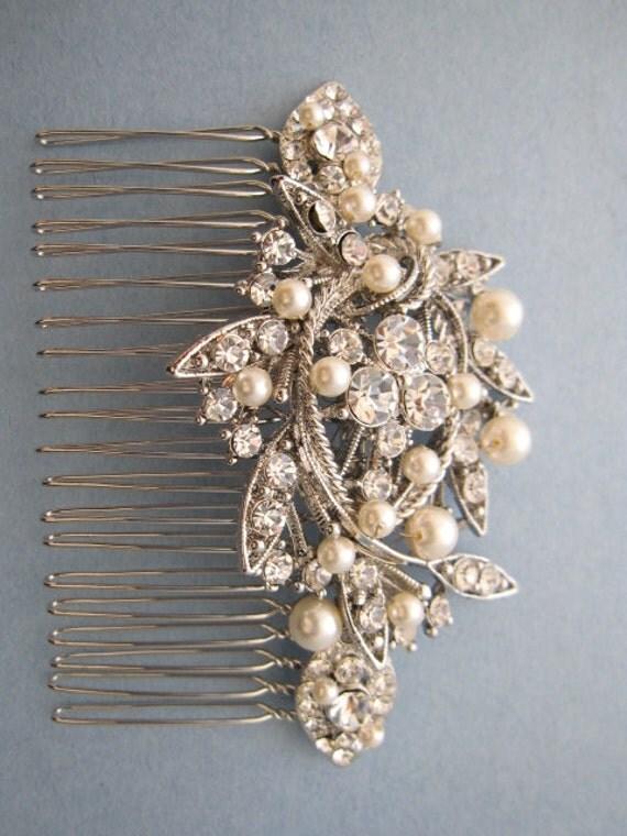 Vintage Style Bridal Hair CombCrystal Rhinestone And Pearl