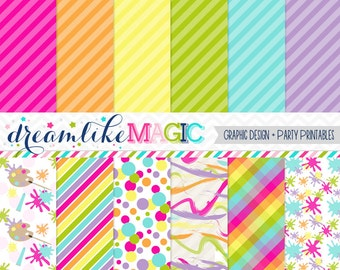 Girly Artist Digital Paper Pack for Personal or Commercial Use