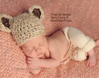 Bear Newborn Photography Hat / BEAR Hat all babies  Photo prop HAT / New Baby Hat Perfect GIFT / Photo Shoot Baby Bear Hat / Crochet Knit