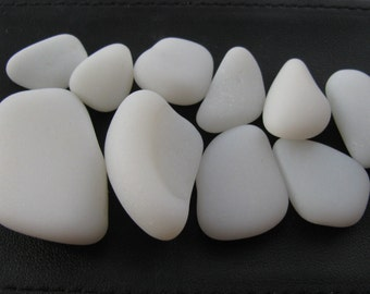 White Milk Glass, Seaglass, Beach Glass, Jewelry Supply, Genuine Sea Glass Jewelry Making