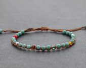Turquoise Contrast Unisex Adjustable Bracelet