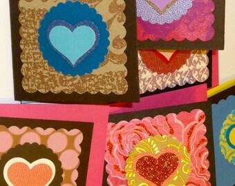 6 Heart Gift Enclosures