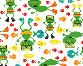 JUST REDUCED - Michael Miller Scuba Doo in white - 1 yard