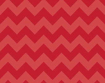 Riley Blake 2-tone chevron in Red - 1 yard