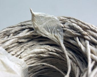 Earth Friendly Paper Twine from Handmade Invitation Paper Tie - 8 yard lengths of narrow White Eco-Twist