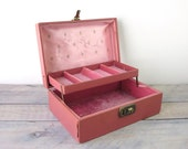 Vintage and Gold Pink Jewelry Box