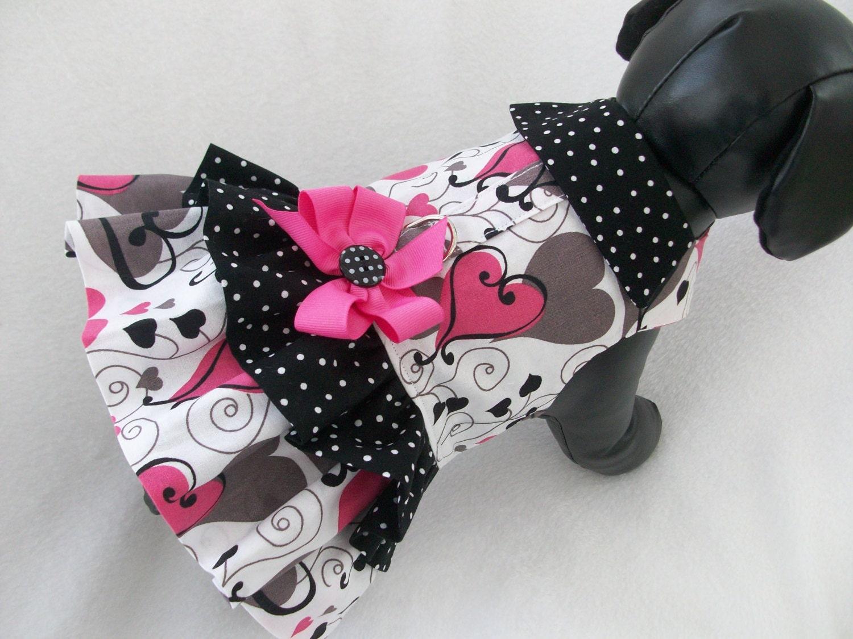 Valentine Hearts Dog Dress Or Vest Custom By Graciespawprints