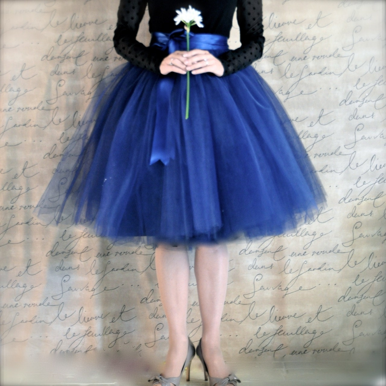 Innovative Pale Grey Tulle Tutu Skirt For Women With Ivory Or Silver