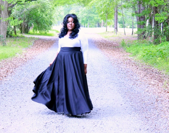 Plus size long skirts and dresses