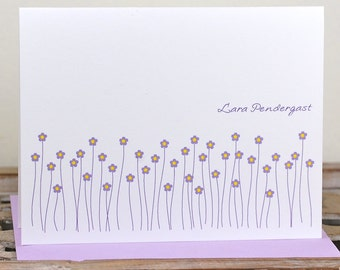 Personalized Note Cards, Note Cards, Flower Note Cards, Flowers, Thank You Cards, Flower, Stationery, Stationary, Mother's Day