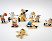 JAVIER MARISCAL⎮COBI mascot tiny figurines⎮Olympic Games 1992⎮set of 10⎮instant collection