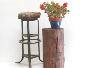 Garden Stump Table Seat Stool Outdoor Deck Patio Yard