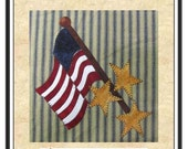 Flag That I Love Applique  Pattern for Tea Towel