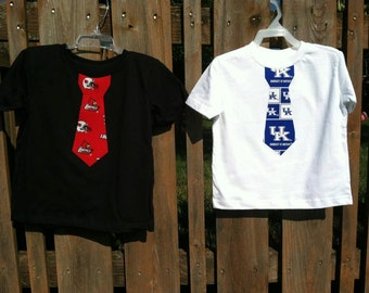 UL and UK Boutique Appliqued Boys Tie t-shirt, sizes 1-6