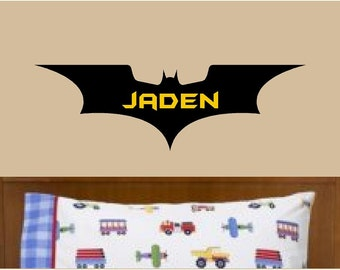 Batman Wall Decor Custom Name Vinyl Wall Decal