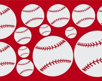 Softball Wall Art and Baseball Vinyl Wall Decals