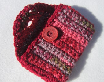 Purse Pouch, Business Card Holder, Crocheted Wallet