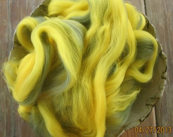 Avocado Gold Superwash Longwool Top Spinning and Felting