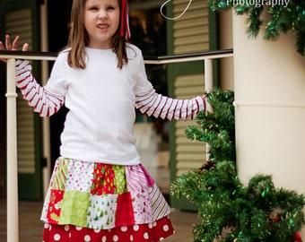 PDF/Pattern Charm School Skirt, Patchwork Twirl Skirt sizes 2t to 9/10 Now Instant Download