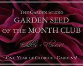 Club, Garden Seed of the Month Club MEMBERSHIP - Seed Packets Shipped Monthly - Edibles & Flowers