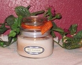 Autumn Lodge type Scented Apothecary Candle with Bubble Lid, 10 oz., Soy