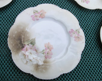 REDUCED Antique R S PRUSSIA Plates set of  5   6 3/8""