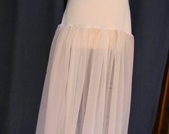white sheer slip XL