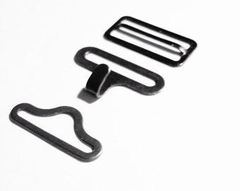 BOW TIE HARDWARE Bowtie Hardware 48 Sets Adjustable Bowtie Necktie Clips Hardware Hook Eye Slide  3/4 Inch