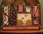 Valentines Day Decor - Valentine Blocks - Stuck On You