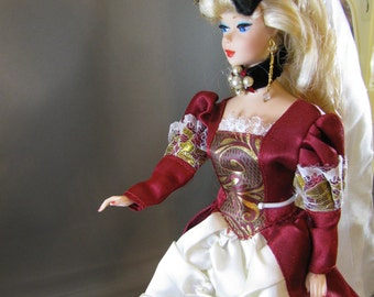 Renaissance Barbie,vintage doll and custom jewelry