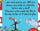 25-100 Dr. Seuss Complete Baby Shower Package Printed and Shipped