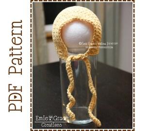 Crochet Hat Pattern, BASIC BONNET - pdf 309