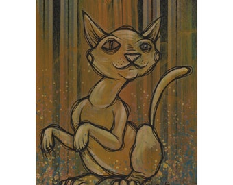 Scratch - Original Acrylic Painting on Canvas