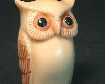 Vintage Japanese netsuke - Just another Country OWL (BIRD)