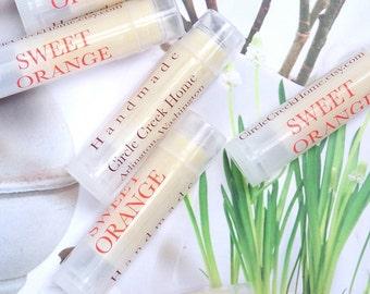 All Natural Sweet Orange Lip Balms
