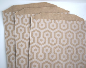 Kraft Honeycomb Favor Bags (20)