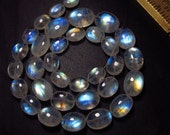 Awesome - AAAA - High Quality So Gorgeous - Rainbow MOONSTONE - Smooth Oval Briolett Rainbow Blue Fire huge size 7x8.5 - 10x13 mm 33 pcs