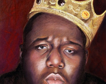 Notorious BIG Biggie Smalls -  8x10 Portrait Print - Badboy - Rap - Hiphop - Music