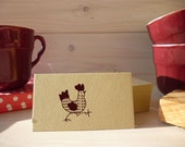 Strutting Hen Olive Wood Stamp